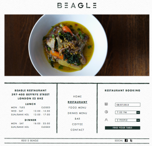 Página web del Beagle