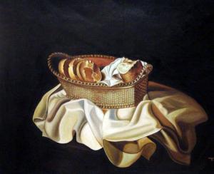 LA CESTA DE PAN óleo sobre lienzo Fundación Gala-Salvador Dali