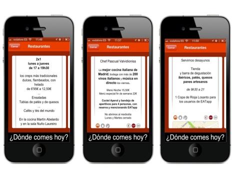 Menús de restaurantes en EATapp para Iphone y Android