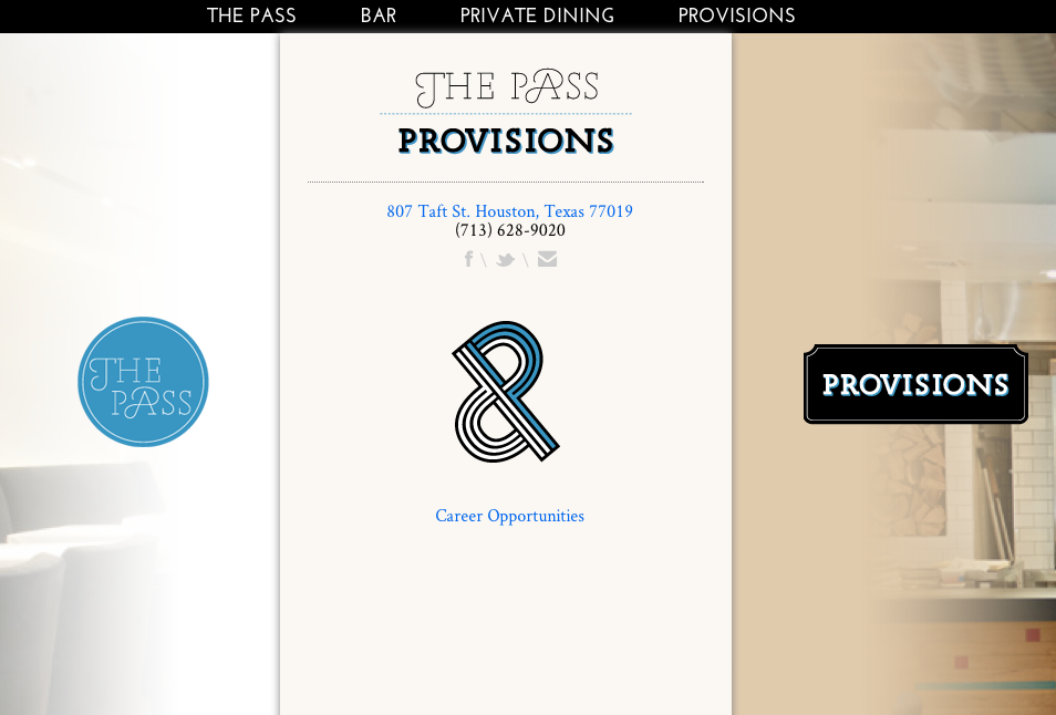 The Pass & Provisions, Huston. Web