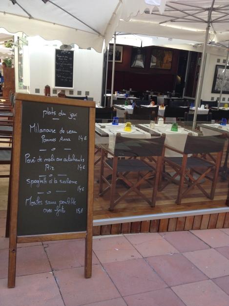 Montecarlo - Mónaco, las Pizarras de los Restaurantes del principado monegasco