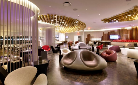 Interiorismo Virgin Atlantic JFK Clubhouse de Slade Architecture