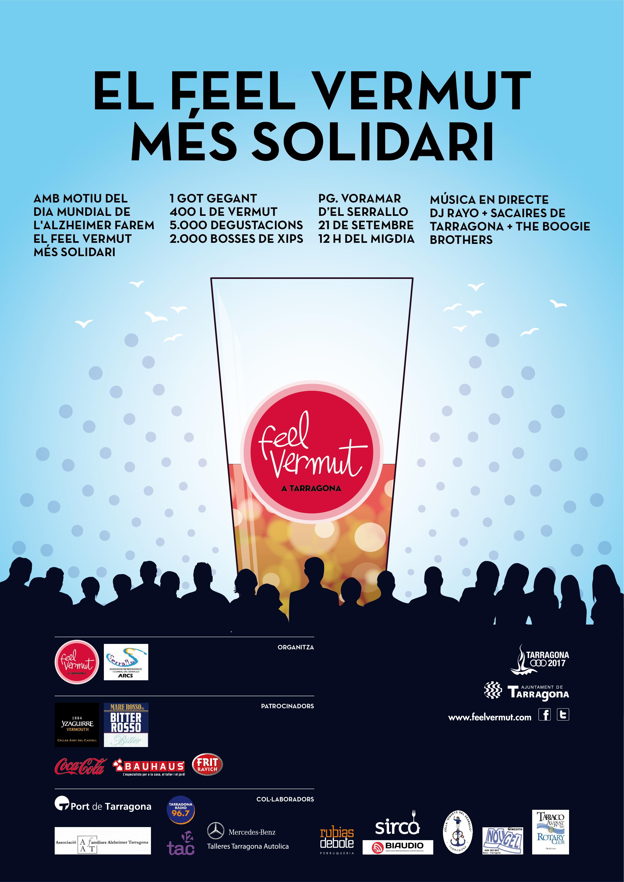 Feel Vermut Solidari 21 de septiembre en Tarragona