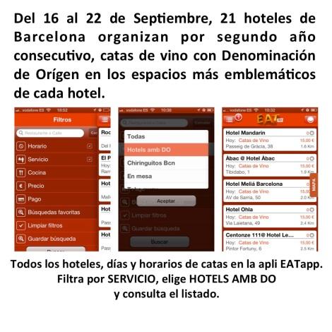 Cata 12 DO catalanas en el evento de HoteslambDO, toda la agenda en EATapp