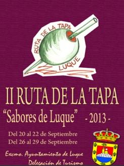 """Ruta de la Tapa """"Sabores luqueños"""", Córdoba - Luque, 20-22 y 26-29  de septiembre"""
