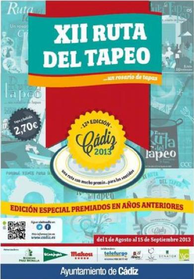 Ruta del Tapeo en Cádiz, 1 de agosto al 15 de septiembre