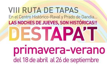 Ruta Destapa`t, Gandía, hasta el 26 de septiembre