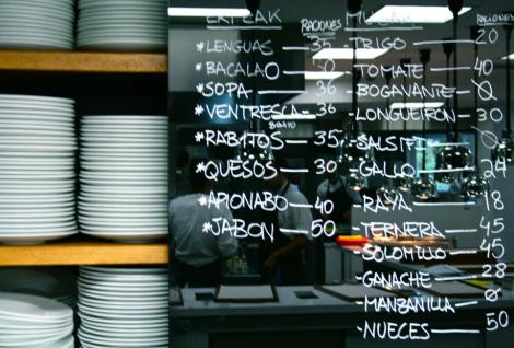 SSGastronomika, los menús. Mugaritz