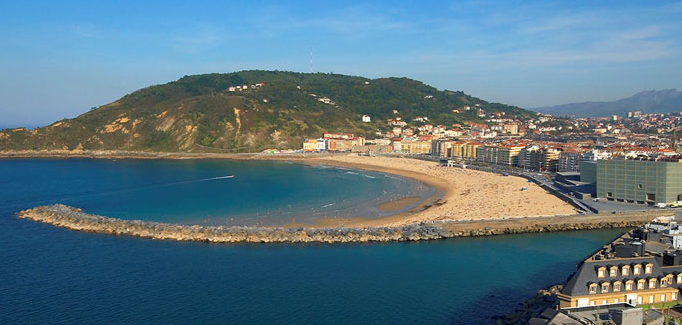 SSGastronomika, Playa de la Zurriola desde el monte Ulía