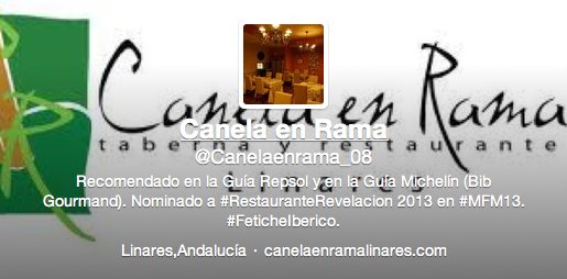 Twitter Canela en Rama