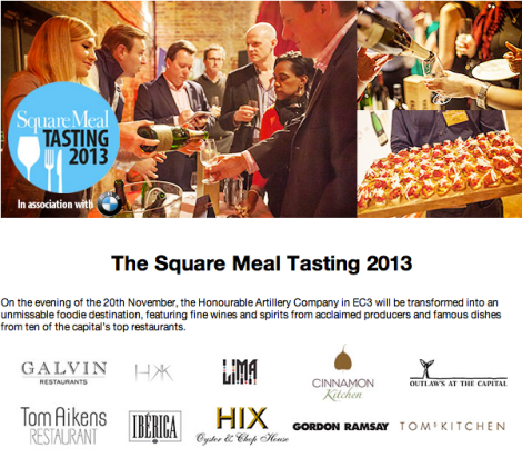 The Square Meal Tasting 2013