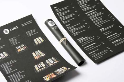 Cartas de Menú para Restaurantes. KURO by Panamo