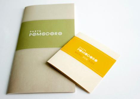 Cartas de Menú para Restaurantes. Pasta Pomodoro