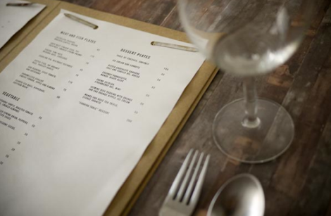 Cartas de Menú para Restaurantes. Table Nº 1