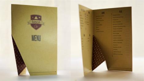Cartas de Menú para Restaurantes. TASCA DO CAFFÉ
