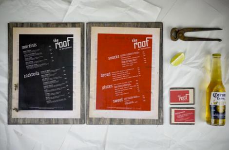Cartas de Menú para Restaurantes. The Roof