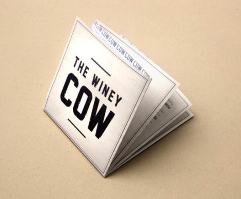 Cartas de Menú para Restaurantes. The Winey Cow Restaurant