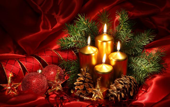 Centros de Navidad con Velas para mesas de restaurantes