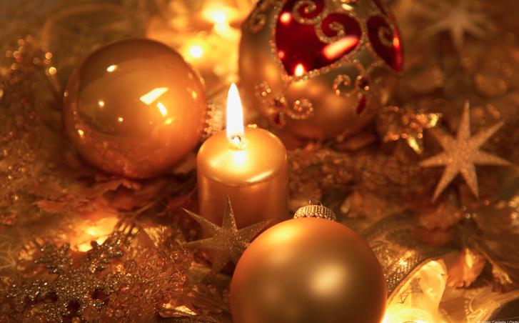 centros de navidad con velas para mesas de