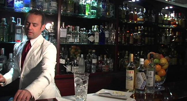 Alfredo Pernía, en la barra del Tandem
