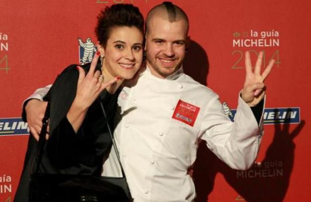 David Muñoz y su esposa Angela, de Diverxo