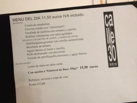 Pizarras de Restaurantes, Madrid Otoño 2013
