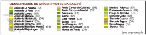 Aceite de oliva, el oro líquido con Denominación de Orígen
