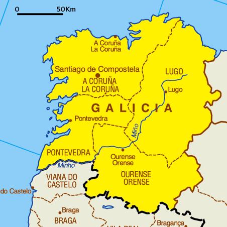 Gastro Mapa gallego