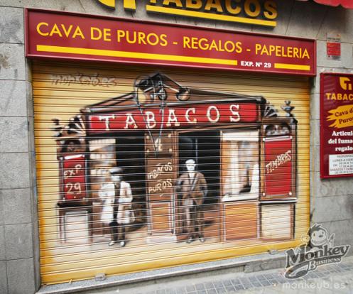 Persianas exteriores decoradas y muy comerciales para restaurantes